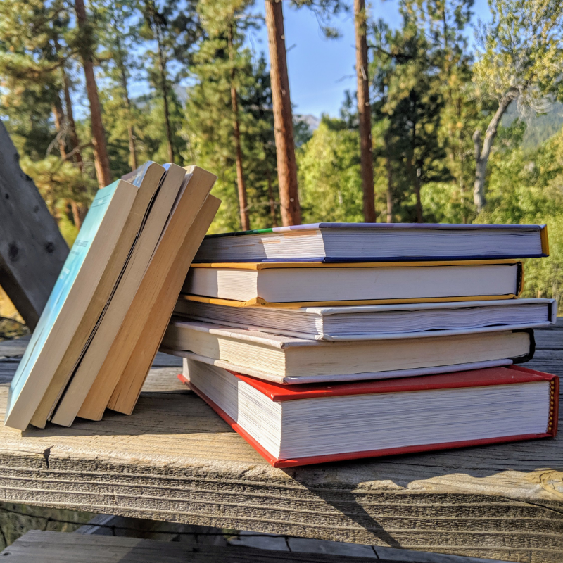 Books and outdoors