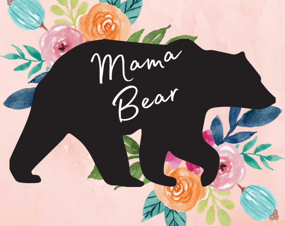 Mama Bear Watercolor